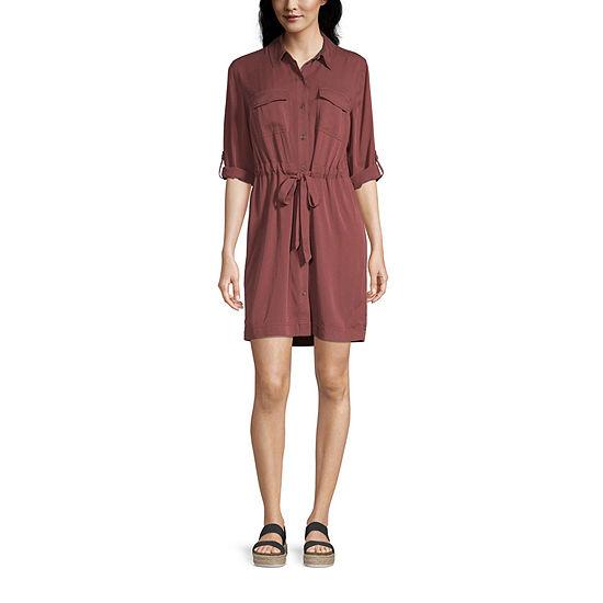 a.n.a 3/4 Sleeve Shirt Dress