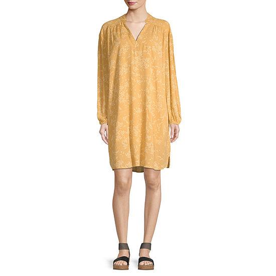 a.n.a Long Sleeve Shift Dress