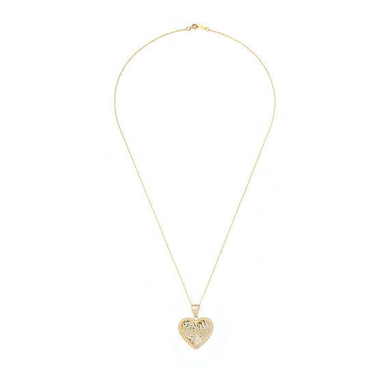 Womens 14K Gold Heart Pendant Necklace