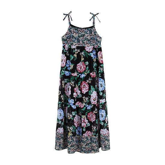 by&by girl Little & Big Girls Sleeveless Floral Maxi Dress