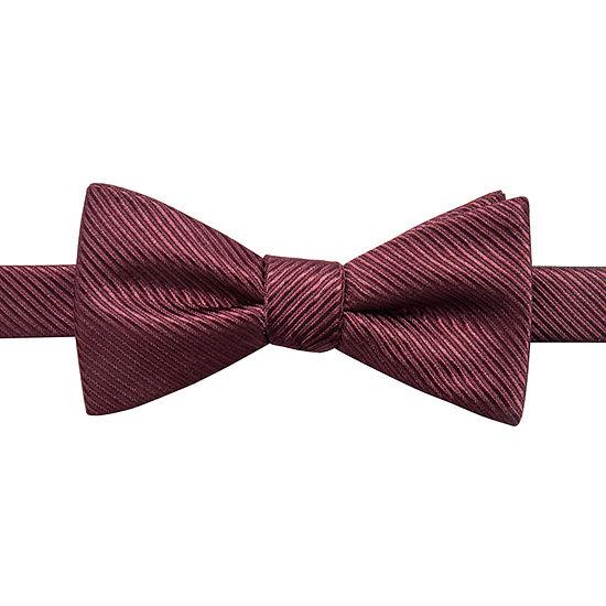JF J.Ferrar Striped Bow Tie
