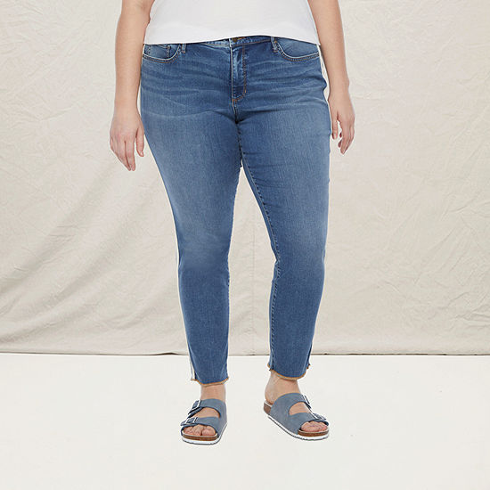 a.n.a-Plus Womens Side Stripe Skinny Jean