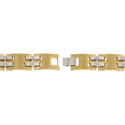 Mens Gold IP Stainless Steel Chain Bracelet