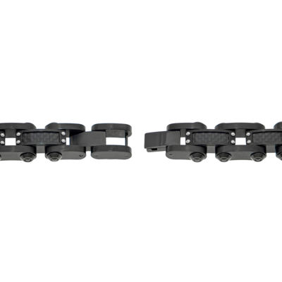 Mens Black IP Stainless Steel and Carbon Fiber Bracelet