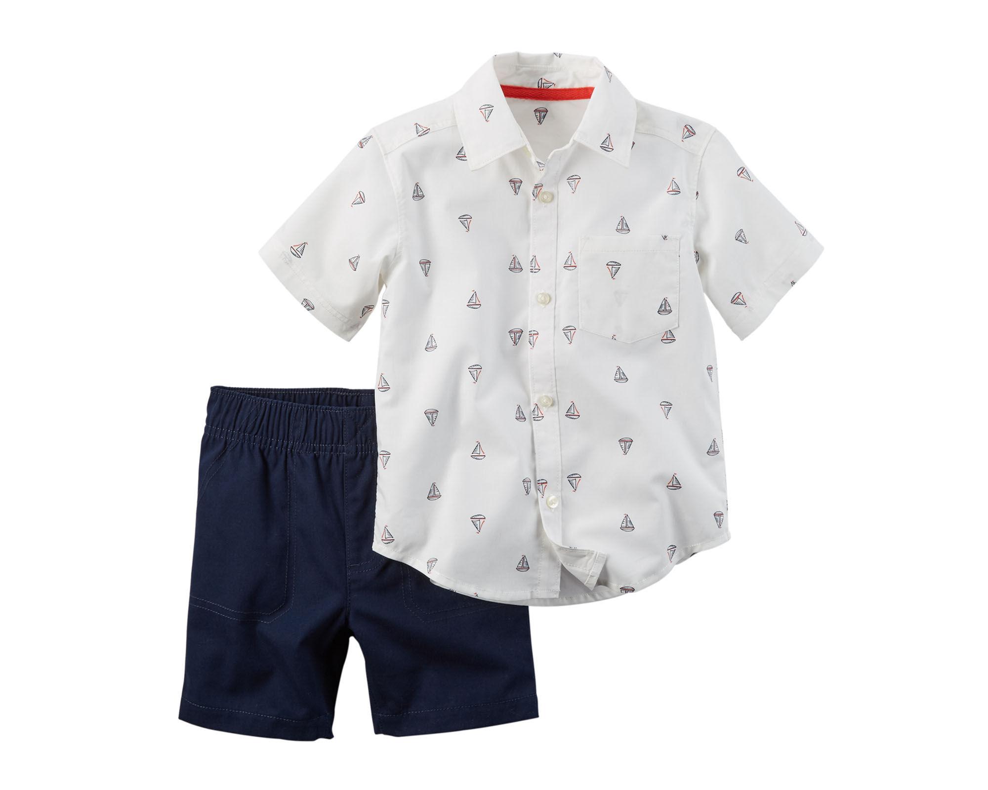 upc 888767342133 carter u0027s 2 pc short sleeve print shirt and