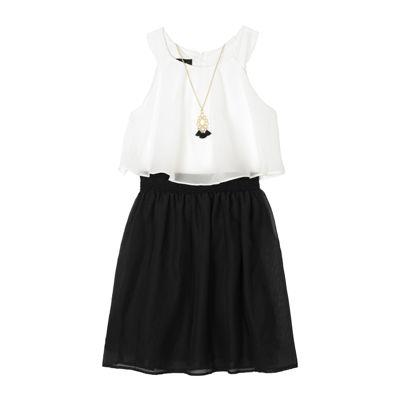 Black and White Plus Dresses