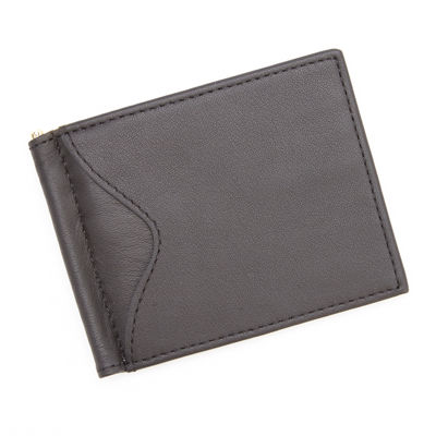 Royce® Cash Clip Leather Wallet with Outside Pocket