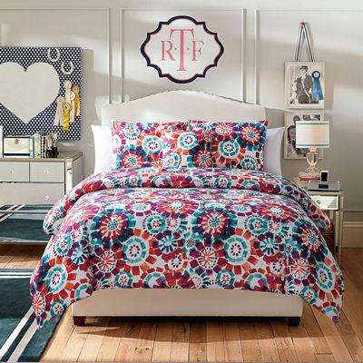 VCNY Fanfare 4-pc. Twin Reversible Floral Comforter Set