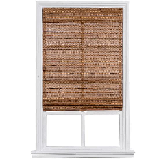 Custom Cordless Bamboo and Reed Roman Shade