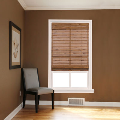 Custom Cordless Bamboo and Reed Roman Shade