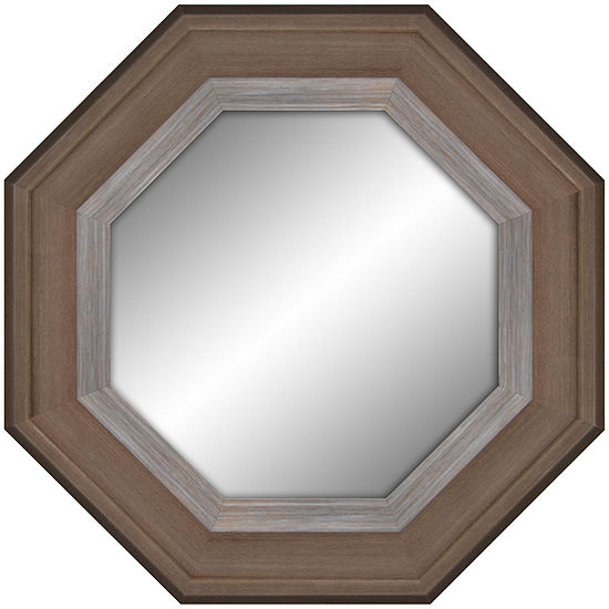 Two-Toned Wooden Octagon Mirror