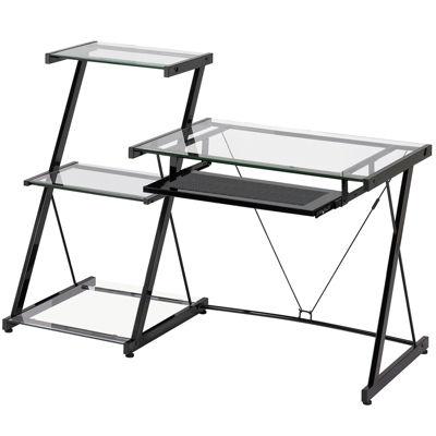 Nero Desk & 3-Tier Bookcase