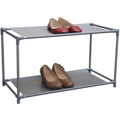 Home Basics 6-Pair Metal Shoe Shelf