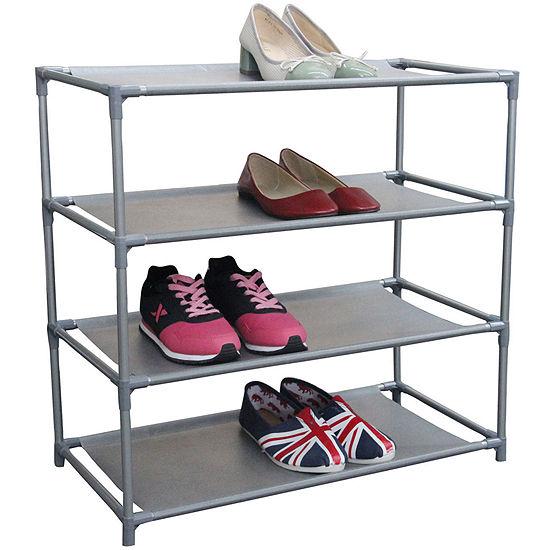 Home Basics 12-Pair Metal Shoe Shelf