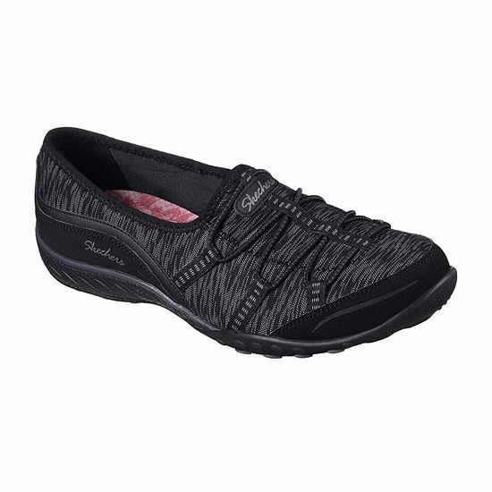Skechers Breathe Easy Golden Womens Slip-on Sneakers