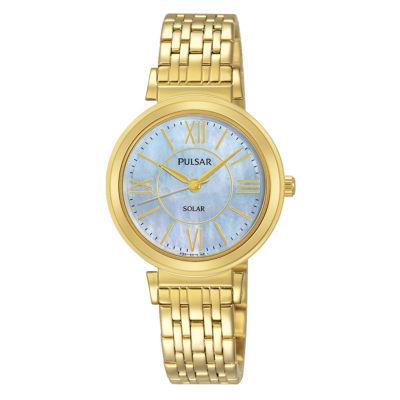 Pulsar Womens Gold Tone Bracelet Watch-Py5030