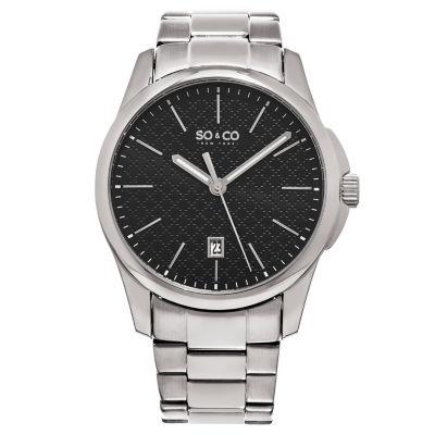 So & Co Mens Silver Tone Bracelet Watch-Jp15882