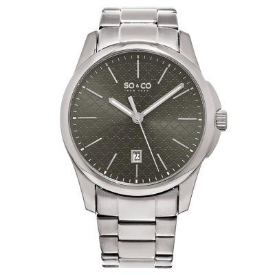 So & Co Mens Silver Tone Bracelet Watch-Jp15883