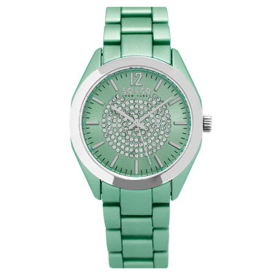 So & Co Womens Green Bracelet Watch-Jp15892