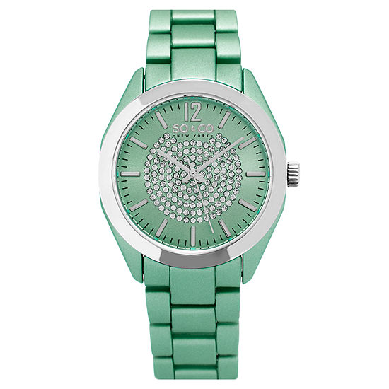 So & Co Womens Green Stainless Steel Bracelet Watch-Jp15892