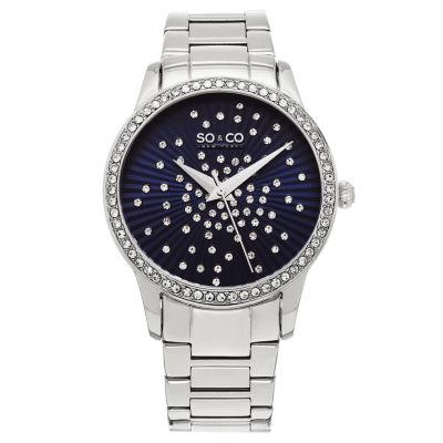 So & Co Womens Silver Tone Bracelet Watch-Jp16021