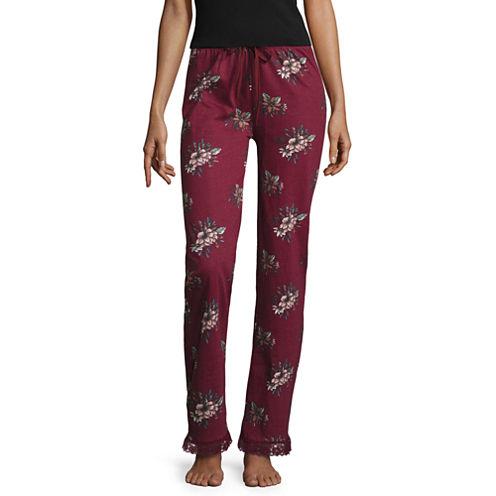 Knit Pattern Pajama Pants-Juniors
