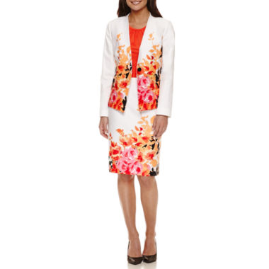 jcpenney.com | Chelsea Rose Long Sleeve Floral-Print Jacket with Sleeveless Blouse and Floral Print Skirt