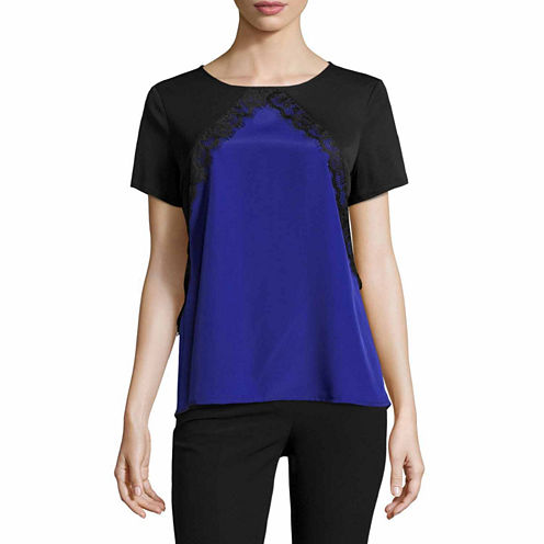 Worthington Short Sleeve Crew Neck T-Shirt-Womens Talls