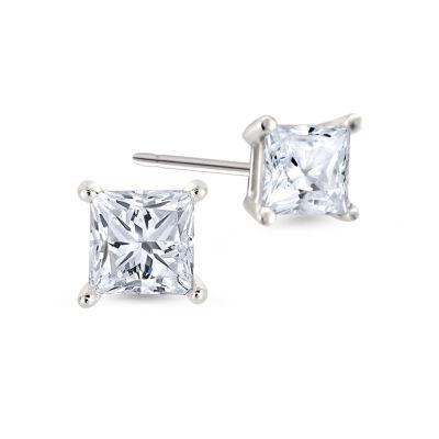 1/2 CT. T.W. Princess White Diamond 14K Gold Stud Earrings