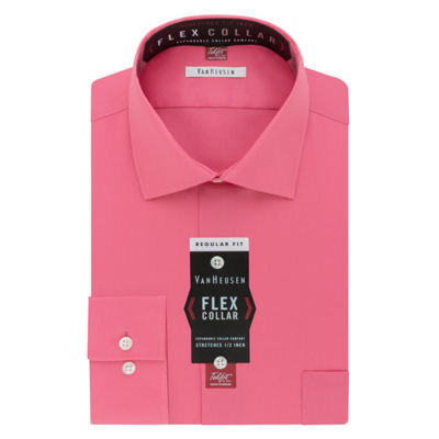 Van Heusen Flex Collar Long Sleeve Woven Checked Dress Shirt
