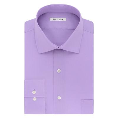 Van Heusen Flex Collar Long Sleeve Woven Checked Dress Shirt