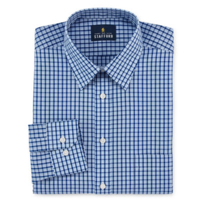 Stafford Travel Performance Super Long-Sleeve Broadcloth Pattern Dress Shirt