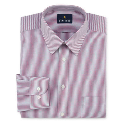 Stafford Travel Performance Super Long-Sleeve Broadcloth Stripe Dress Shirt