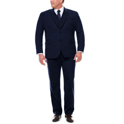 Stafford Travel Wool Blend Stretch Suit Separates-Portly Fit