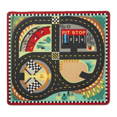 Melissa & Doug® Round the Speedway Race Track Rug