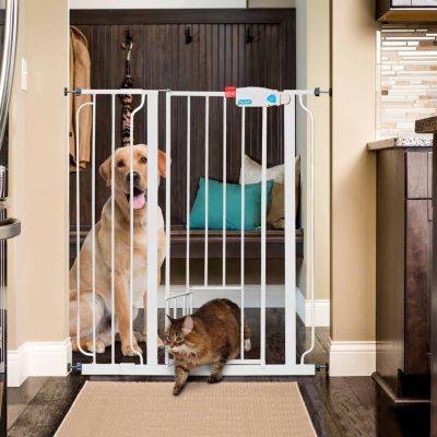 Carlson Extra Tall Pet Gate with Small Pet Door