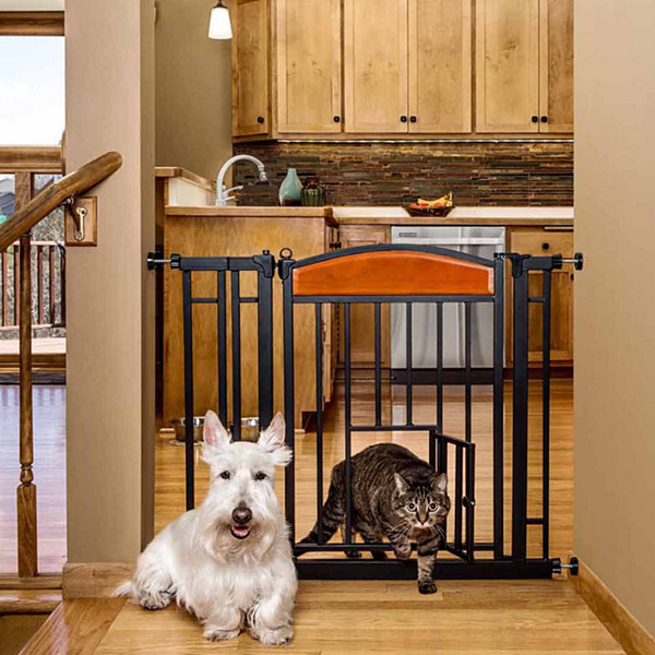 Carlson Design Studio Pet Gate with New Zealand Wood