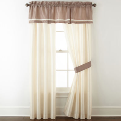 Home Expressions Genevieve 2-Pack Rod-Pocket Curtain Panels
