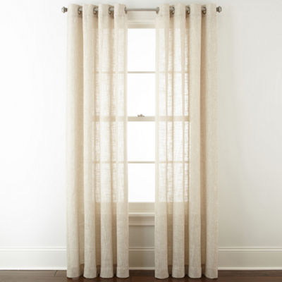 JCPenney Home Sydney Grommet-Top Curtain Panel