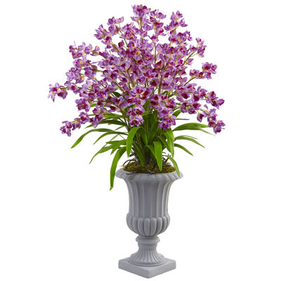 Giant Blooming Orchid Silk Floral Arrangement