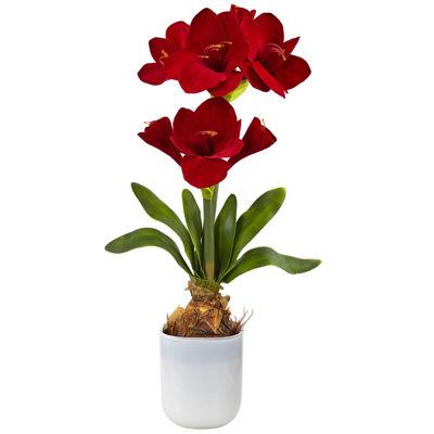 Silk Amaryllis Floral Arrangement