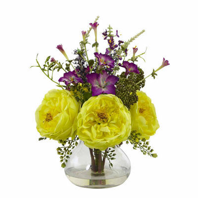 Rose & Morning Glory Floral Arrangement