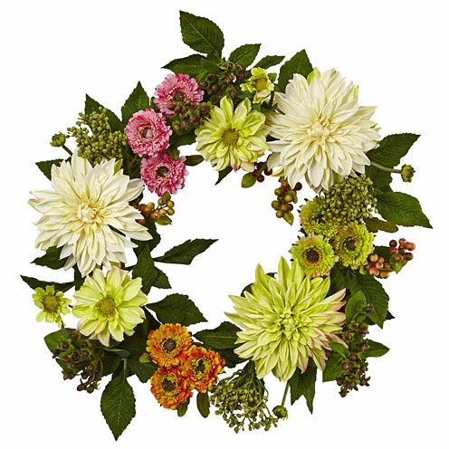 "22"" Dahlia Mum Wreath"