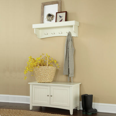 Cottage Shelf Coat Hook with Cabinet Bench