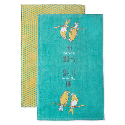 JCPenney Home Spring Is In The Air 2-pc. Kitchen Towel