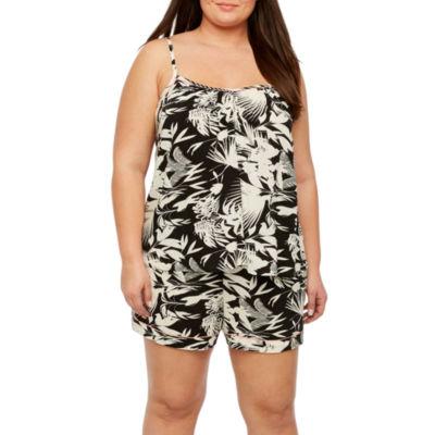 Ambrielle Sleeveless Shorts Pajama Set-Plus