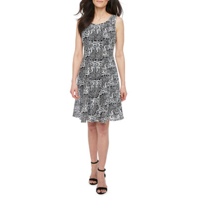 Perceptions Sleeveless Jacket Dress-Petite