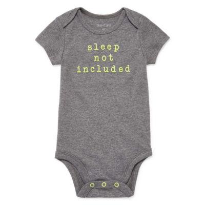 """Okie Dokie """"Sleep Not Included"""" Short Sleeve Slogan Bodysuit - Baby NB-24M"""