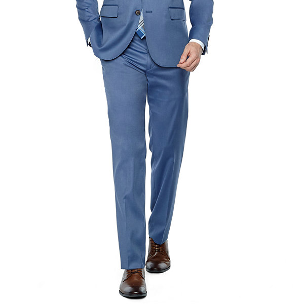JF J.Ferrar Light Blue Twill Super Slim Fit Suit Jacket