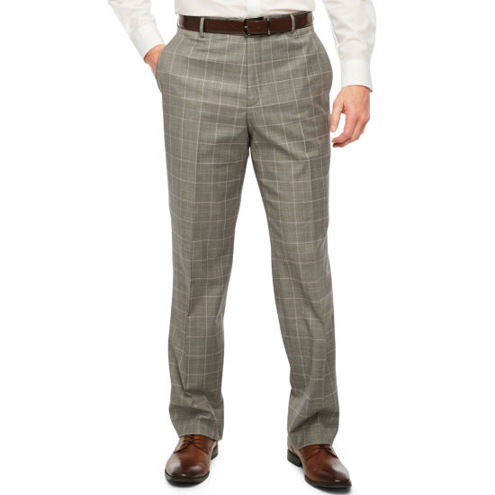 Stafford Travel Grid Stretch Classic Fit Suit Pants